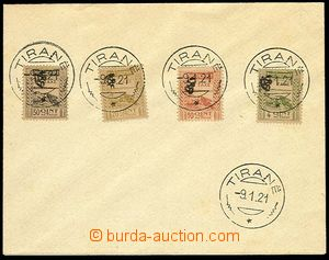 25691 - 1920 porto stamp. Mi.14 - 17 on envelope with CDS Tirane 9.1