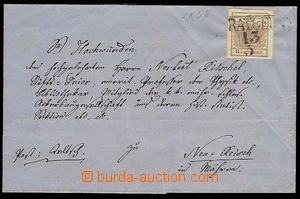 25700 - 1850 folded cover official letter franked by. stamp. issue I
