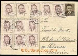 25713 - 1953 CDV99 zaslaná 16.VI.53 z Orlové, dofr. 11 ks zn. Gott