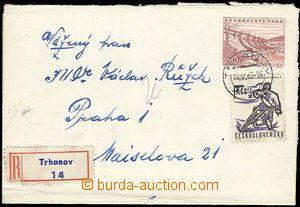 25727 - 1969 CZA1 zaslaná jako R, dofr. zn. 1Kčs, DR Trhanov 14.V.