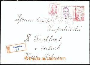 25729 - 1955 COB7 sent as Reg, uprated by. 1,60CZK, stamp. Pof.734,