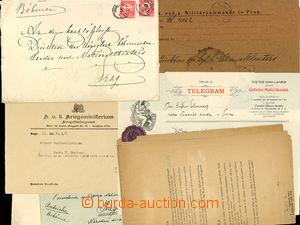 25756 - 1880 - 1920 sestava dopisů a telegramů adresovaných na ředit
