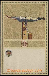 25769 - 1910 GYMNASTICS, cvičenec on/for hrazdě - issue for Deutsc