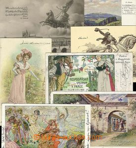 25790 -  7 pcs of painted Ppc, various motives, i.a. Bartered bride,