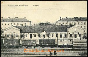 25791 - 1914 MARCHEGG - nádraží, prošlá jako FP, DR Pozsony, p�