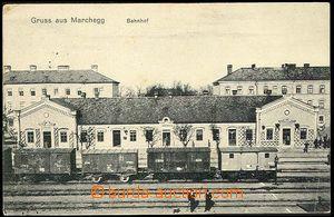 25791 - 1914 MARCHEGG - railway-station, Us as FP, CDS Pozsony, nice