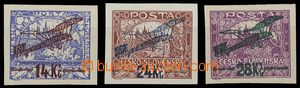 25827 - 1920 Pof.L1-3, imperforated, superb, exp. by Mrnak.., Gilber