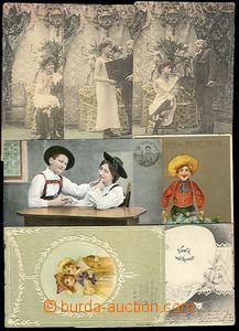 25864 - 1902 - 10 CONGRATULATORY - comp. 9 pcs of various congratula