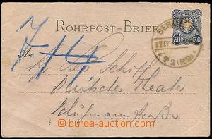 25914 - 1886 Mi.RU1 envelope for pneumatic-tube post, 30Pf Us in Ber
