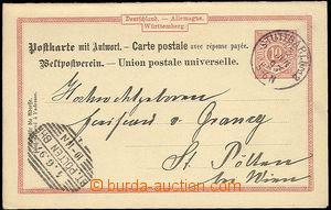 25915 - 1886 2 pcs of bavorských PC, Mi.P23, abroad, vertical wave,