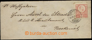 25921 - 1874 letter small format with Mi.5, stmp off center, small s