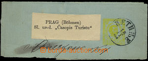 25926 - 1900 newspaper wrapper with private added print stamps Mi.2,