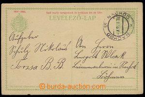 25939 - 1916 maďarská dopisnice 5f Hadi segély... použitá v Če