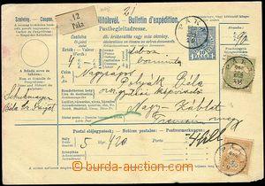25940 - 1900 celá mezinárodní pošt. průvodka s kolkem 10f, vyfr