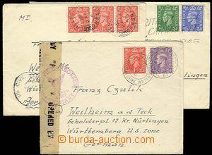 25997 - 1947 3ks dopisů zaslaných do obsazeného Německa, vše s
