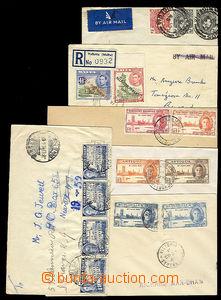 26022 - 1926 - 46 ZÁMOŘÍ  sestava 6 ks dopisů vyfr. zn. zemí ja