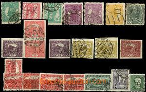 26053 - 1918 sestava 22 různých perfinů na známkách ČSR I. (1x