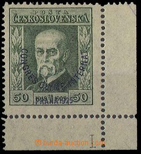 26054 - 1925 Congress  50h R corner with plate mark 1, Pof.180 P7, v
