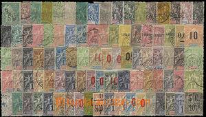 26131 - 1880 FRANCOUZSKÉ KOLONIE  sestava zn. Alegorie 25 území a