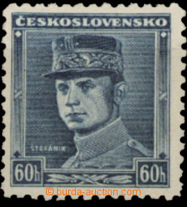 26137 - 1939 Alb.1, blue Štefánik 60h, mint never hinged.