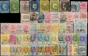 26147 - 1887 - 1921 selection of 53 pcs of stamp. on stock-sheet A5,