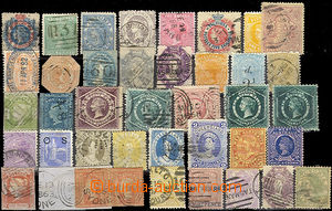 26149 - 1860 - 90 selection of 31  pcs stamp. on stock-sheet A5, con