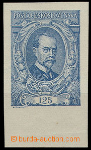 26186 -  Pof.140NaI, 125h ultramarine, imperforated with lower margi