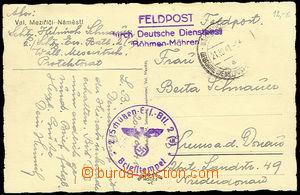 26213 - 1941 postcard Valašské Meziříčí as mailing FIELD-POST