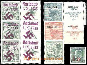26226 - 1938 sestava 7ks zn. s přetisky. Konstantinovy Lázně Mi.2