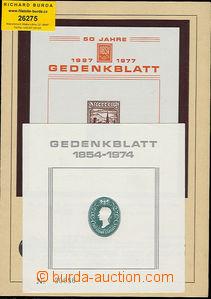 26275 - 1975 2 pcs of commemorative sheets (Gedenkblatt) E2 (Radnitz