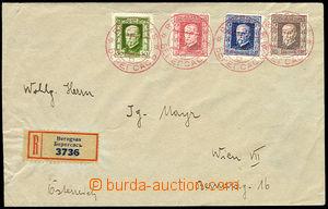 26278 - 1925 Reg letter to Vienna, with Pof.188, 190, 191, 192, birt