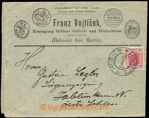 26282 - 1895 - 1905 2 dopisy s reklamou, 1x firemní dopis s reklamo