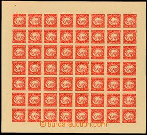 26288 - 1945 emergency newspaper label Rovnost, complete 56  pcs pri