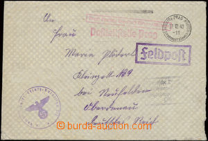 26289 - 1940 letter field post transported German Service Post Bohem