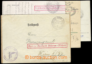 26296 - 1940 - 1943 comp. 4 pcs of entires Feldpost (Field-Post), tr