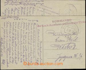 26300 - 1918 Turecko  2ks pohlednic s útvarovým raz. Kommando / de