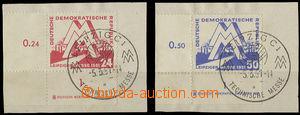26331 - 1951 Mi.282 - 283 plate mark, corner pieces with name printi