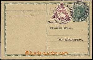 26332 - 1918 CDV Mi.235 with uprated by. express trigonal stamp. 2h,