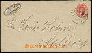26350 - 1874 DENMARK  postal stationery cover Mi.U6 from  year 1874