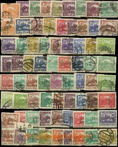 26390 - 1919 - 1921 sestava 89 známek Hradčany s různými perfiny