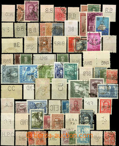 26393 - 1941 ARGENTINA, 122 pcs of stamps with various perfins (ca.