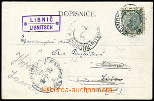 26394 - 1903 postcard with postal agency pmk LIBNIČ/ LIBNITSCH, CDS