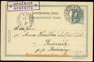 26397 - 1904 CDV Mi.131, with postal agency pmk OPOČNICE/ OPOČNITZ