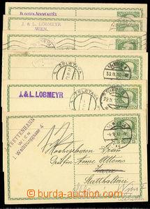 26405 - 1910 - 12 nobiliary correspondence  comp. 8 pcs of Austrian