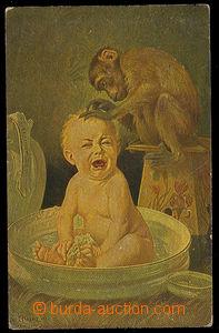 26413 - 1919 issued. DEGI Nr.546, child with opicí, Us, slightly bu