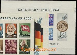 26421 - 1953 2 pcs of miniature sheets Mi.386 - 391B, Block 8, Mi.39