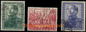 26422 - 1951 Mi.286-288, German-Chinese Friendship, hinged, c.v.. 15