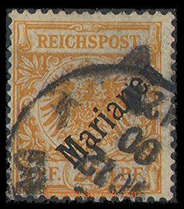 26430 - 1900 MARIANA ISL.  Mi.5/I., 25Pfg orange, fragment těžší