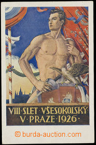 26466 - 1926 Sokol  VIII. festival Prague 1926, sign. Hiršl, Un wit