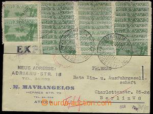 26492 - 1944 firemní lístek zaslaný v době inflace do Berlína,